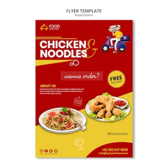 Voedsel online concept flyer mock-up