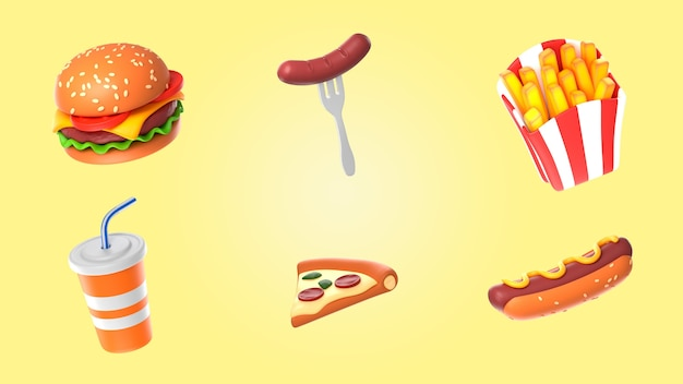 Voedsel renderpakket