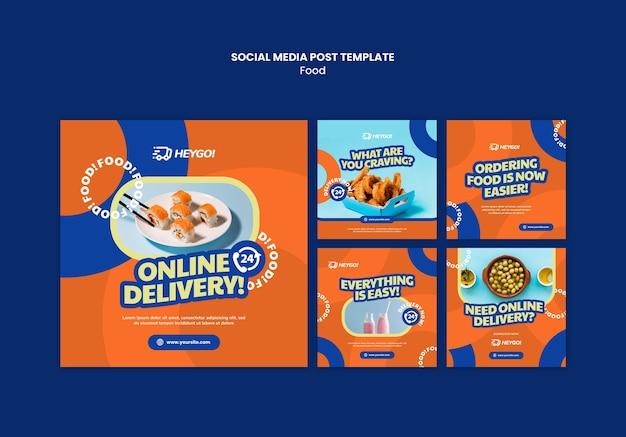 Voedsel sociale media post-sjabloon