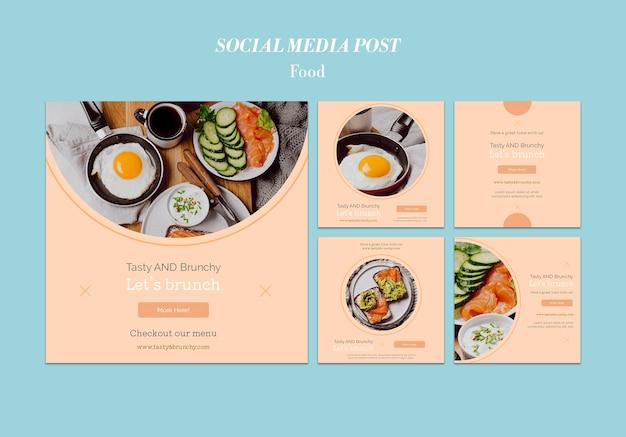 Voedsel sociale media post sjabloonontwerp