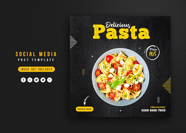 Voedsel sociale media promotie en instagram banner post ontwerpsjabloon