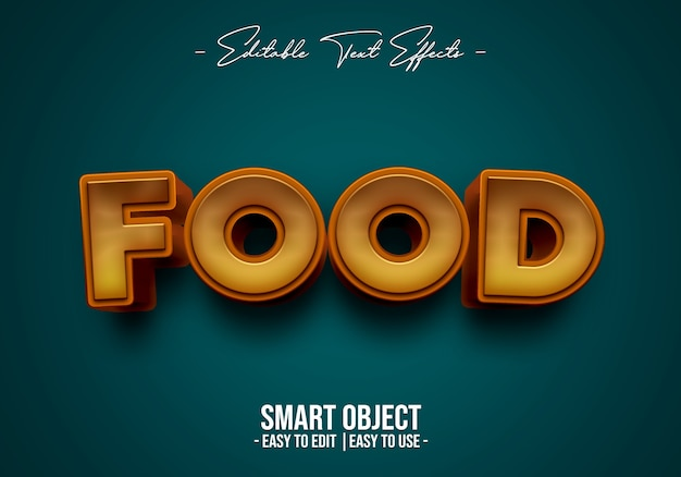 Voedsel tekststijl effect