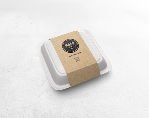 Voedsel vak papier ambachtelijke mockup