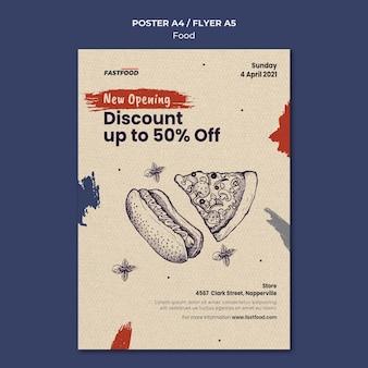 Voedsel verkoop poster sjabloon