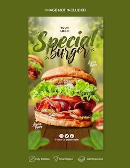 Voedselmenu en heerlijke pizza-sjabloon voor sociale media-banners