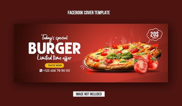 Voedselmenu en restaurant facebook omslagsjabloon