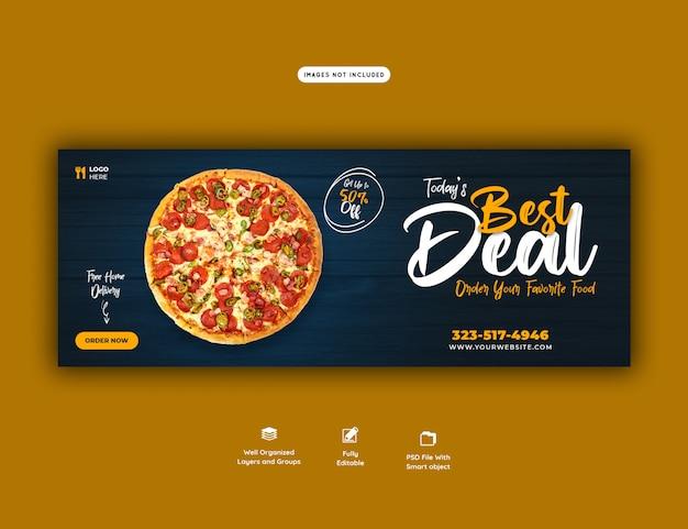 Voedselverkoopmenu voor websjabloon voor spandoek