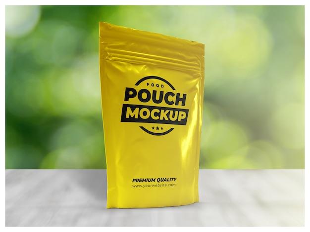 Voedselzak verpakking mock-up