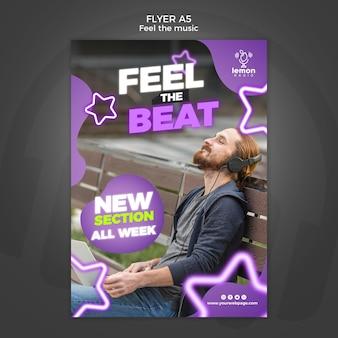 Voel de flyer-sjabloon voor muziekconcept