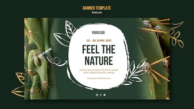 Voel de sjabloon voor de banner van de natuurevenement