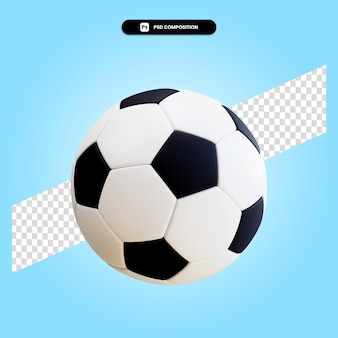 Voetbal bal 3d render illustratie geïsoleerd