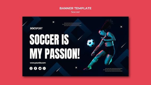 Voetbal banner sjabloonontwerp