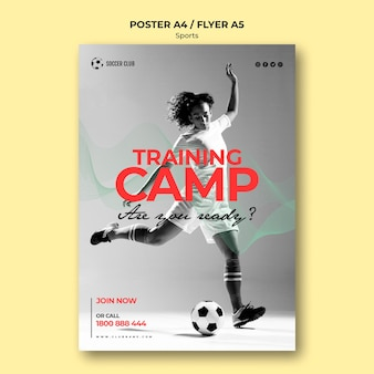 Voetbal club trainingskamp poster