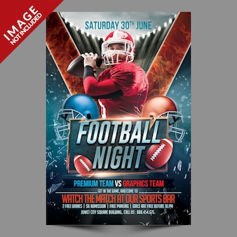 Voetbal night flyer
