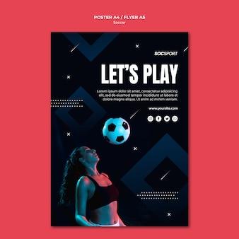 Voetbal poster sjabloonontwerp
