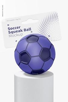 Voetbal squeak ball mockup