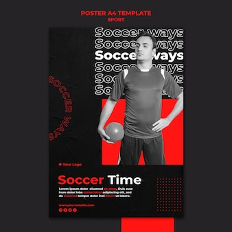 Voetbal tijd poster sjabloon