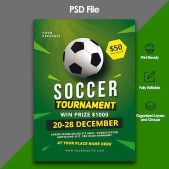 Voetbal toernooi sjabloon folder