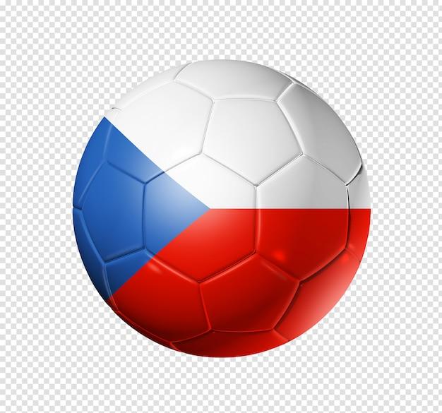 Voetbal voetbal met de vlag van de tsjechische republiek