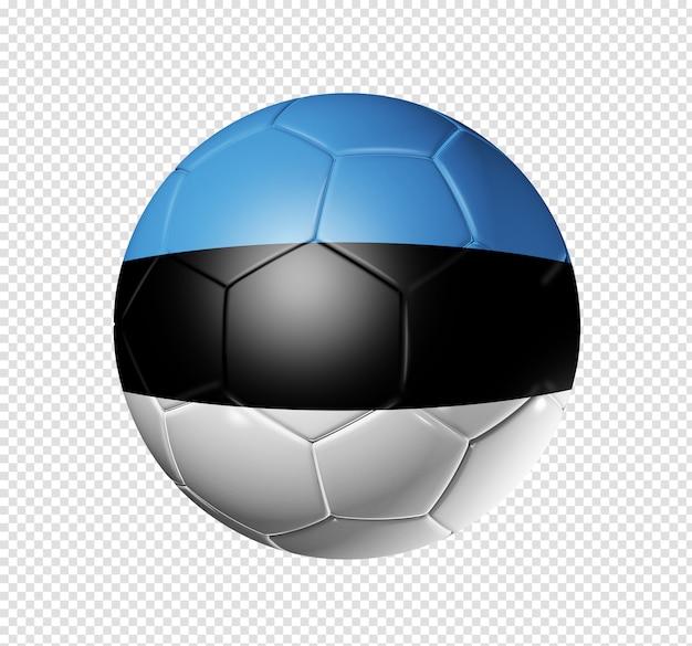 Voetbal voetbal met de vlag van estland