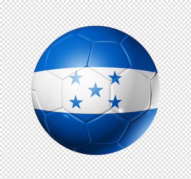 Voetbal voetbal met de vlag van honduras