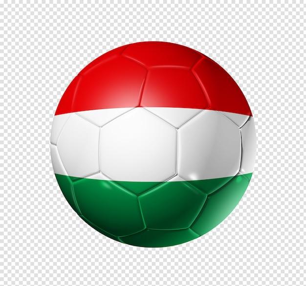 Voetbal voetbal met de vlag van hongarije