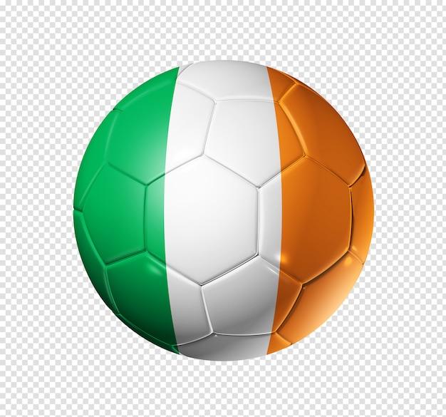 Voetbal voetbal met de vlag van ierland