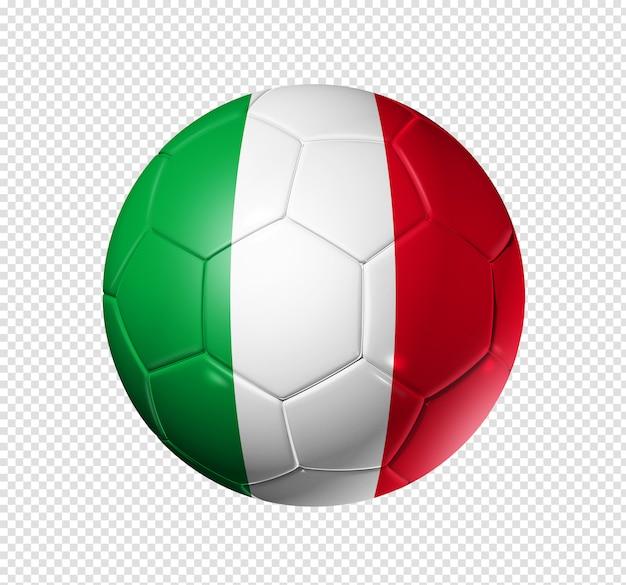 Voetbal voetbal met de vlag van italië