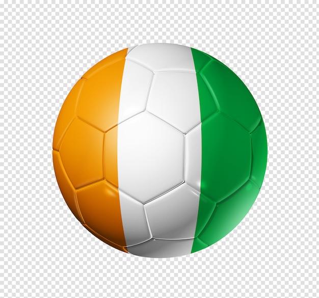 Voetbal voetbal met de vlag van ivoorkust