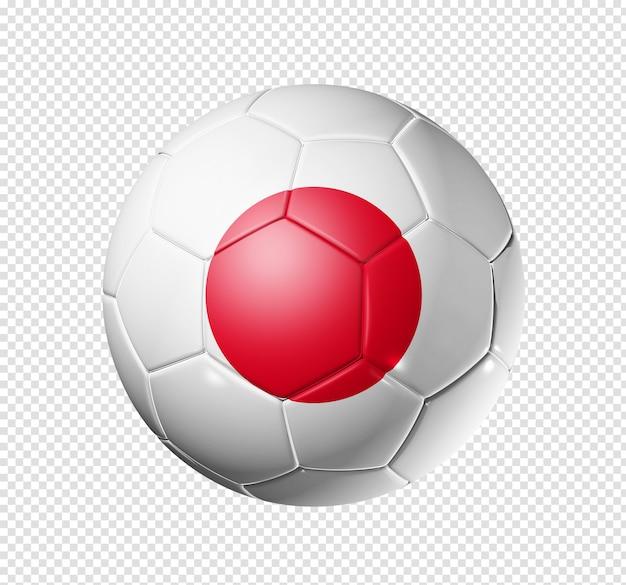Voetbal voetbal met de vlag van japan