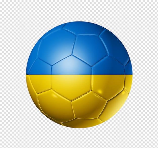 Voetbal voetbal met de vlag van oekraïne