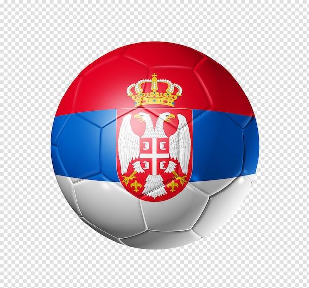 Voetbal voetbal met de vlag van servië