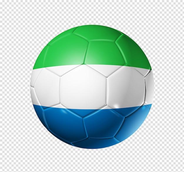 Voetbal voetbal met de vlag van sierra leone