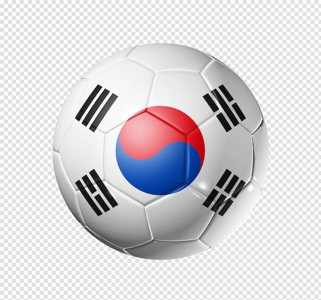 Voetbal voetbal met de vlag van zuid-korea