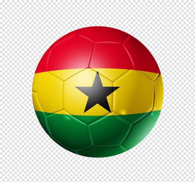 Voetbal voetbal met ghana vlag
