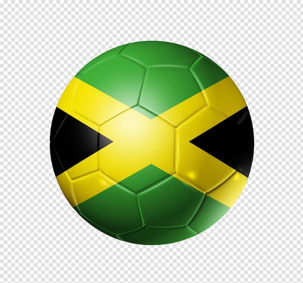 Voetbal voetbal met jamaica vlag