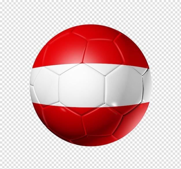 Voetbal voetbal met peru vlag