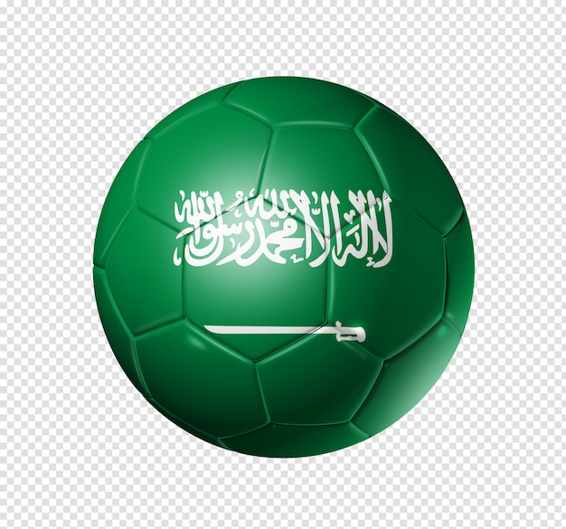 Voetbal voetbal met saoedi-arabië vlag