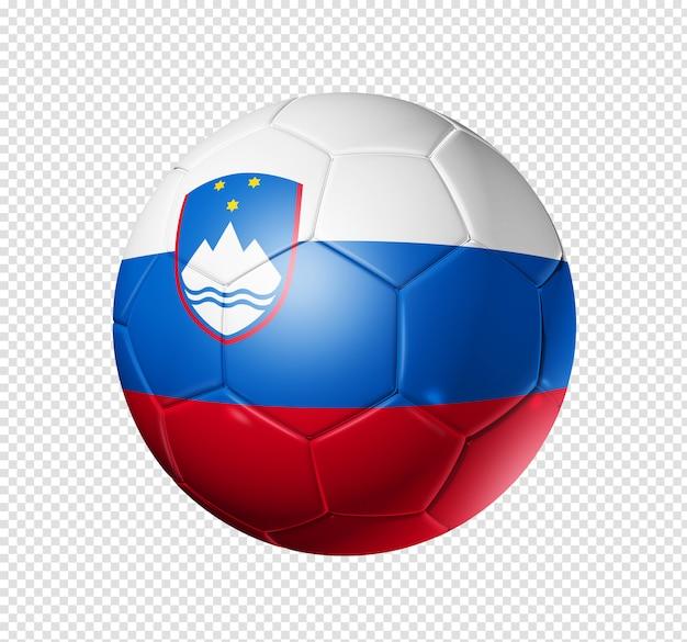 Voetbal voetbal met slovenië vlag