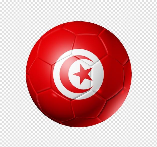 Voetbal voetbal met tunesië vlag