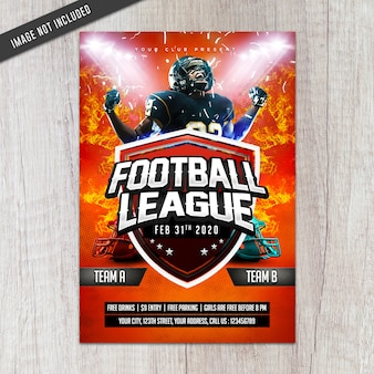 Voetbalcompetitie flyer