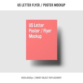 Volando noi lettera volantino o poster mockup