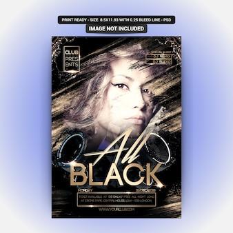 Volantino all black night party