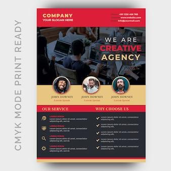 Volantino aziendale moderna agenzia creativa