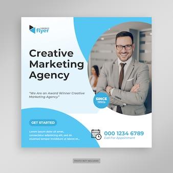Volantino di banner di social media marketing aziendale digitale