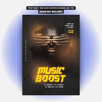 Volantino di musica boost party