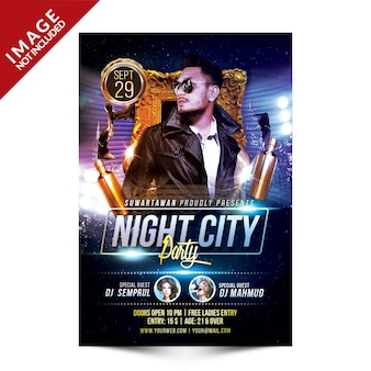 Volantino di night city party