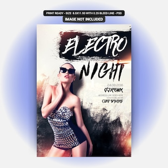 Volantino electro night party