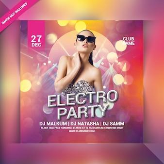 Volantino electro party