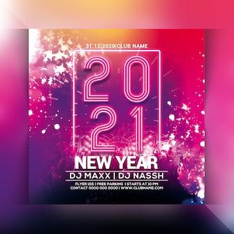 Volantino festa 2021 anno nuovo